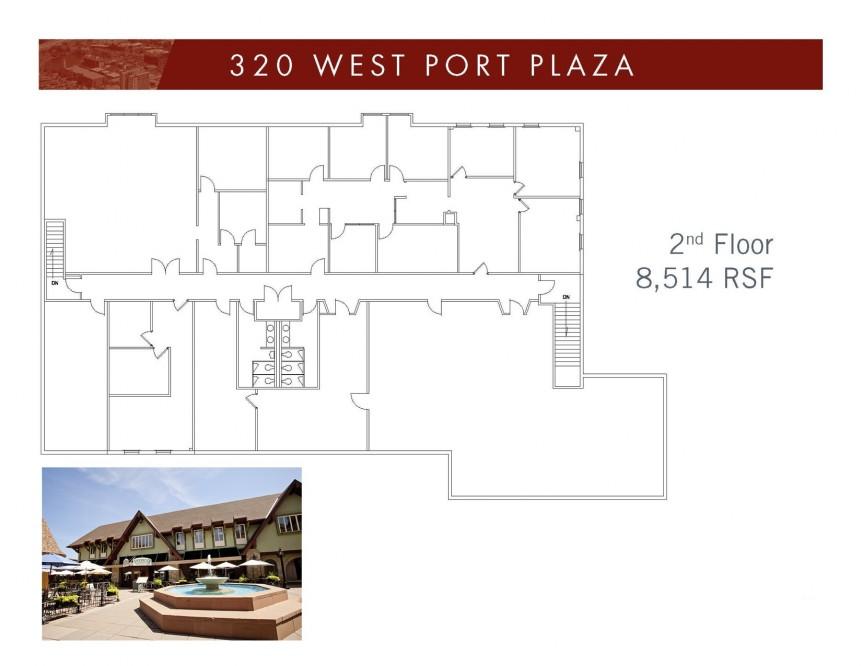 320 West Port Plaza - 2nd Floor with bldg image